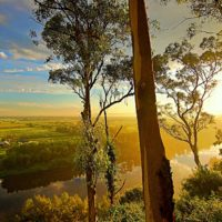 Across the Hawkesbury at Sunset